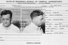 "Minnesota BCA arrest record for Harry ""Dutch"" Sawyer"
