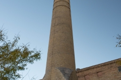Smoke stack of the Grain Belt brew house in Northeast Minneapolis