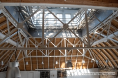 Looking up into the belvedere from the fifth floor of the Grain Belt brew house
