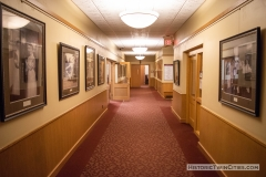 Hallway outside the administration offices in Old main Hall at Hamline University