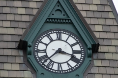 North face of the clock on Old Main Hall at Hamline University