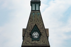 Clock tower of Old Main Hall at Hamline University