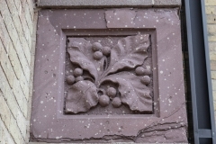Ornate stone detailing on Old Main Hall