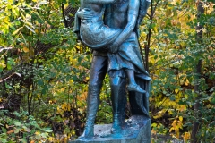 Sculpture of Hiawatha and Minnehaha in Minnehaha Park - Minneapolis