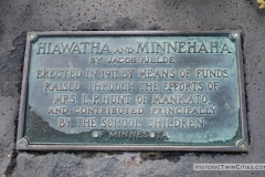 Plaque for the sculpture of Hiawatha and Minnehaha in Minnehaha Park - Minneapolis