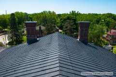 View of the roof from the dome of the Historic Washington County Courthouse - Stillwater, MN