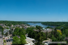 View facing northeast from the dome of the Historic Washington County Courthouse - Stillwater, MN