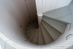 Spiral stairway leading from the dome of the Historic Washington County Courthouse - Stillwater, MN