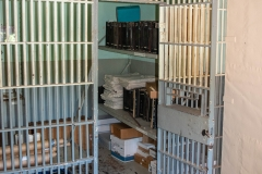 One of the original 1870 jail cells in the Historic Washington County Courthouse - Stillwater, MN