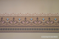 Stenciling in the second floor courtroom of the Historic Washington County Courthouse - Stillwater, MN