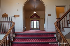 Double staircase leading to the second to the second floor of the Historic Washington County Courthouse - Stillwater, MN
