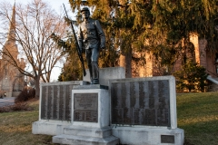 World War I era Soldiers and Sailors monument on the front lawn of the Historic Washington County Courthouse - Stillwater, MN