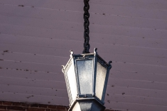 Light fixture under the portico of the Historic Washington County Courthouse - Stillwater, MN