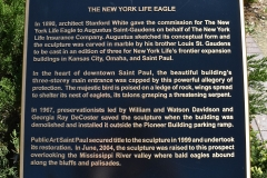 Plaque about the New York Life Eagle in Summit Overlook Park, St. Paul