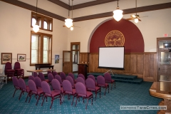 Original courtroom in the old Dakota County Courthouse