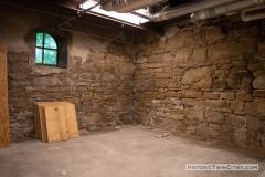 Limestone footings in the basement of the old Dakota County Courthouse