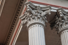 Detail of the Corinthian columns on the north portico of the old Dakota County Courthouse
