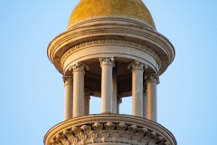 Gilded center cupola atop the dome of the old Dakota County Courthouse