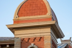 Mansard roof atop the northeast tower of the old Dakota County Courthouse