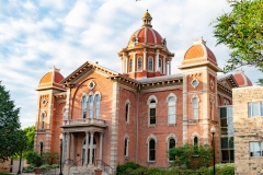Front of the old Dakota County Courthouse in Hastings