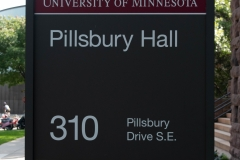Sign in front of Pillsbury Hall - University of Minnesota