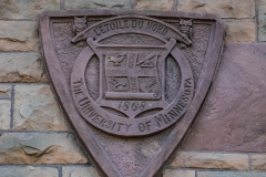 Seal of the University of Minnesota on Pillsbury Hall