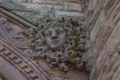 Carving of Medusa above the northeast entrance to Pillsbury Hall - University of Minnesota