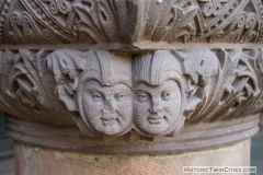Faces carved on the imposts of the arcade arches on the north side of Pillsbury Hall- University of Minnesota