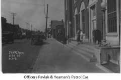 Patrol car in South St. Paul Post Office robbery - August 30, 1933