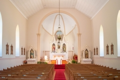 Interior of the Historic Church of St. Peter in Mendota