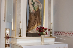 Statue of St. Joseph inside the Historic Church of St. Peter in Mendota