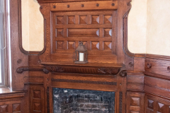 Fireplace on the first floor of the of the Stockyards Exchange Building - South St. Paul