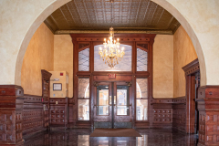 Inside the west entrance of the Stockyards Exchange Building - South St. Paul