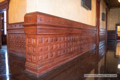 Wainscoting on the first floor of the the Stockyards Exchange Building - South St. Paul