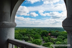 View facing south from the observation deck of the Witch's Hat Water Tower in the Prospect Park neighborhood of Minneapolis