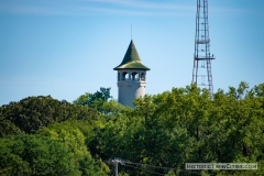 View of the Witch's Hat Water Tower from East River Parkway