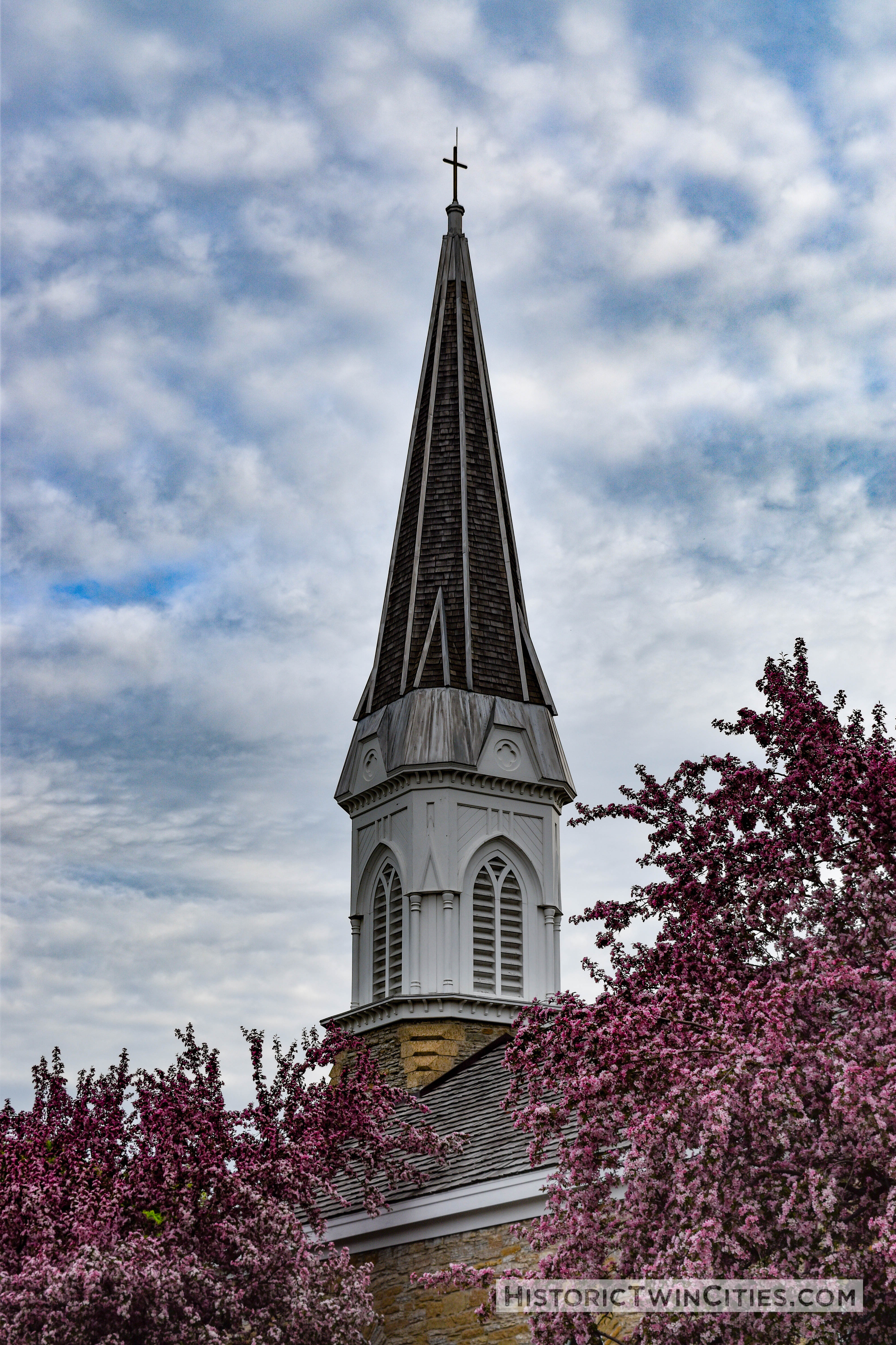 Steeple of the Historic Church of St. Peter in Mendota