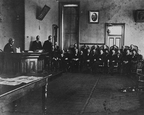 Dakota County Courthouse Courtroom circa 1900