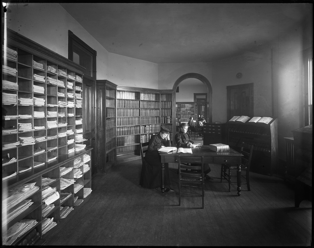Library of Old Main Hall circa 1890s Photo Courtesy of Minnesota Historical Society)