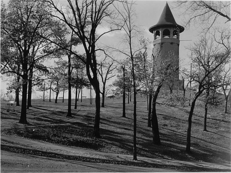 Prospect park Water Tower circa 1936
