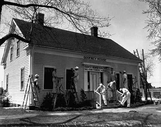 Ard Godfrey House circa 1935 (MHS)