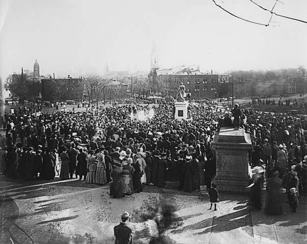 John A. Johnson Monument Dedication circa 1912 (MHS)
