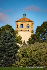 View of the Highland Park Water Tower from the 6th hole f the Highland Park National Golf Course