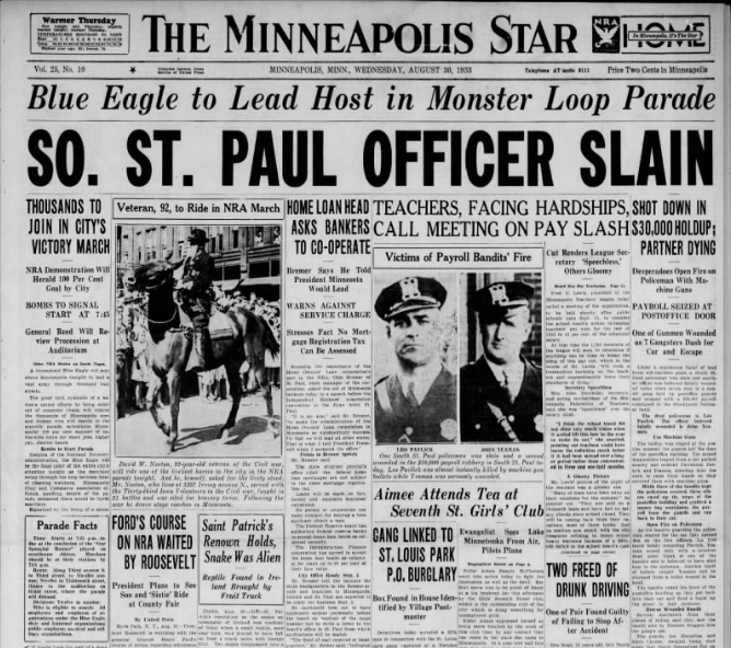 South St. Paul Post Office Robbery - 1933