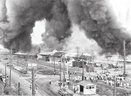 Memorial Day 1948 South St. Paul Stockyards Fire (Dakota County Historical Society)