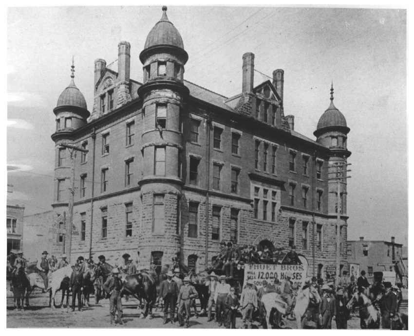 Stockyards Exchange Building circa 1898 (MNHS)