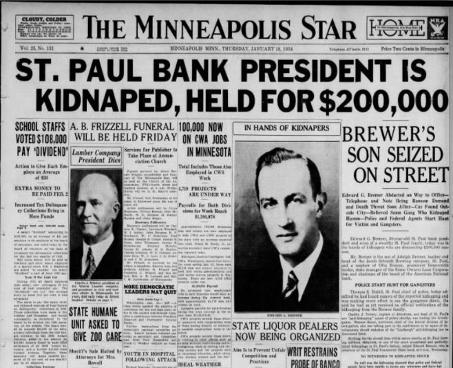 Minneapolis Star January 18, 1934